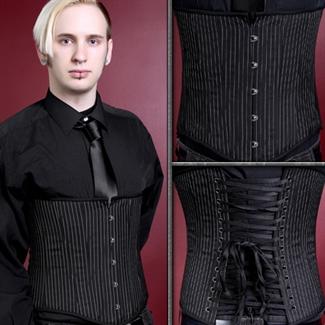 Gentleman's Pinstripe underbust corset $99