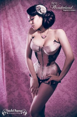 Cupped and corded overbust by Lost in Wonderland Lingerie & Corsetry