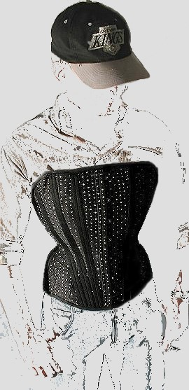 """The """"Arnold"""" men's overbust corset by The Ardent Collection"""