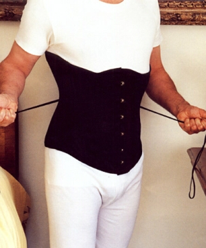 Axfords makes corsets for men, including this C515 for £135.00