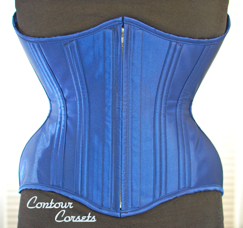 Contour Corsets male underbust with characteristic reinforced zipper closure