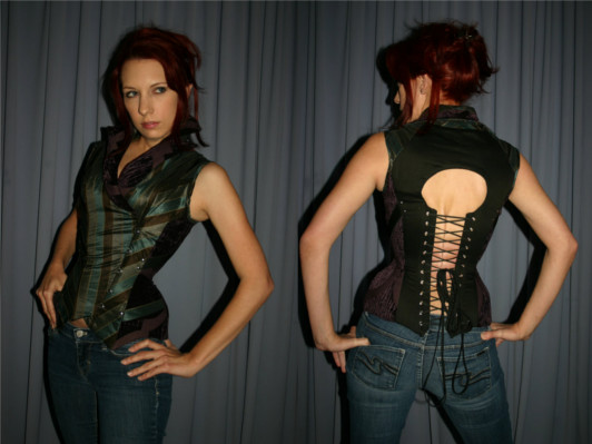 House of Canney Duelist's Steampunk Corset vest, starts at $265