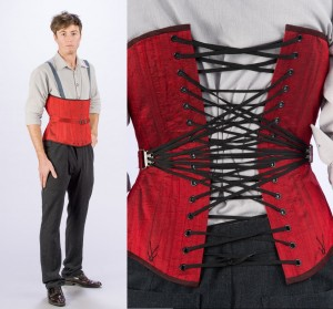 AusAsche on Etsy has made this smart-looking men's fan-laced corset. (USA)