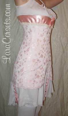 LaraCorsets 1911 reproduction corset in damask coutil