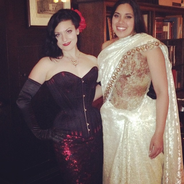 Autumn Adamme and Lucy at the Grand Corset Ball in NYC