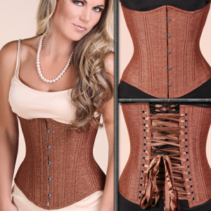 Brown Shimmer Slim corset