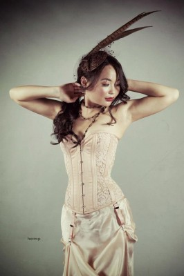 Dark Garden Risqué Sweetheart overbust with lace, $505