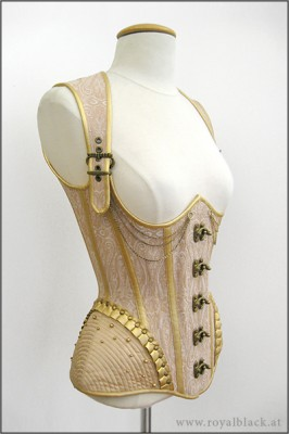 """""""Beads and Buckles"""" Corset top design by Royal Black"""