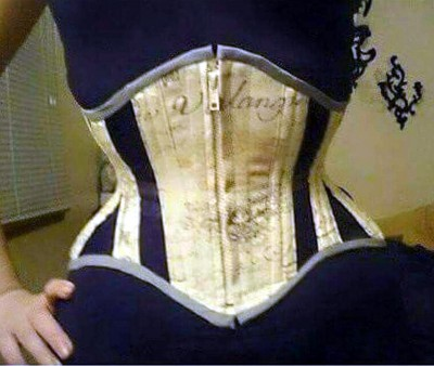 House of 1000 Corsets offers this sweet custom semi-mesh cincher with a front zip. Better photo to come soon!