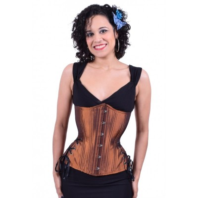 copper long hourglass corset