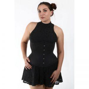 Hourglass Black Cotton Corset