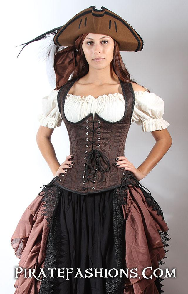 """Buxom Bodice"" by Pirate Fashions - price ranges from $139 to $159 USD."